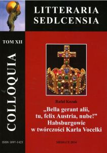 COLLOQUIA LITTERARIA SEDLCENSIA - Tom XII