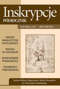 """Okładka czasopisma naukowego """"Inskrypcje. Półrocznik"""" nr 2/2014"""