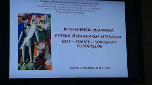 "Konferencja ""Polska Awangarda Literacka"""
